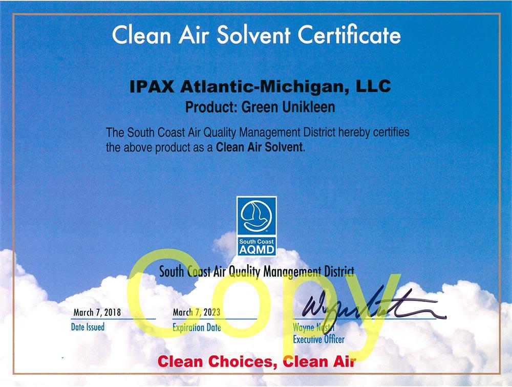 clean air solvent